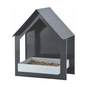 Antracytowa metalowa budka dla ptaków Esschert Design, wys.23,2cm