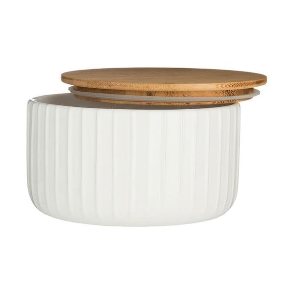 Biały pojemnik z bambusowym wieczkiem Premier Housewares