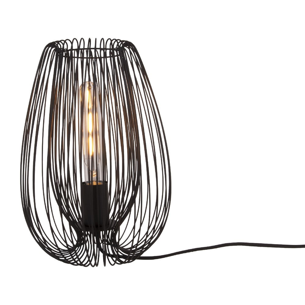 Czarna lampa stołowa Leitmotiv Lucid