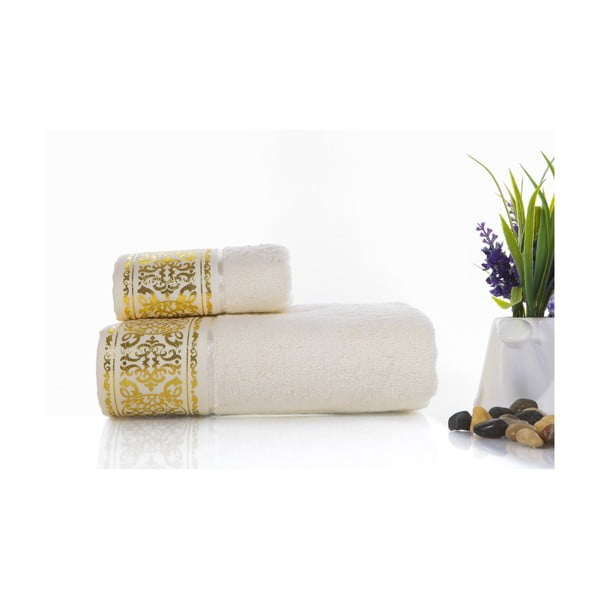 Zestaw 2 ręczników Flora V3, 30x50 cm + 50x90 cm