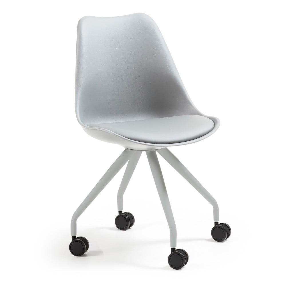 Szare krzesło biurowe La Forma Lars