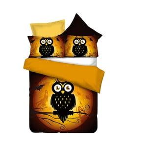 Dwustronna   pościel z mikrowłókna DecoKing Owls Ghoststory, 135x200cm