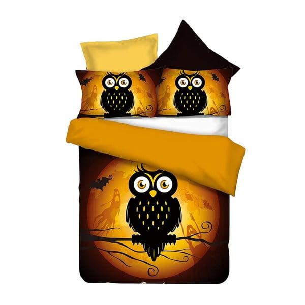 Pościel z mikrowłókna DecoKing Owls, 200x220 cm