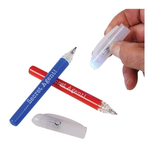 Zestaw 2 detektywistycznych długopisów z niewidzialnym atramentem i światłem UV Rex London Secret Agent