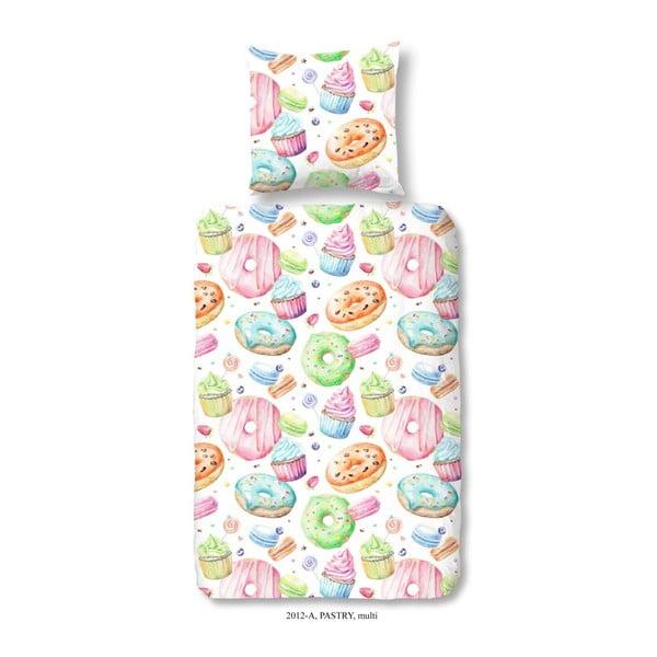 Pościel dziecięca z bawełny Muller Textiels Premento Pastry, 140x200 cm