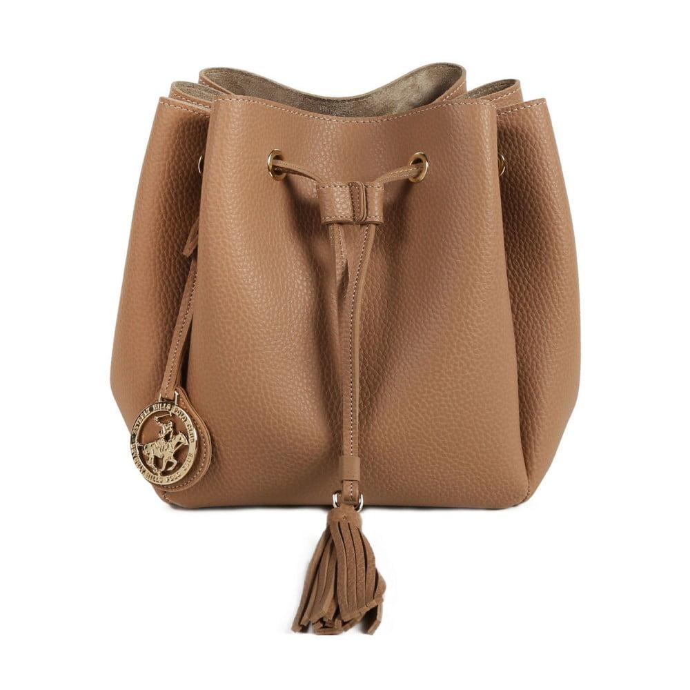 f23c88e530c17 Beżowa torebka ze skóry ekologicznej Beverly Hills Polo Club Kate ...