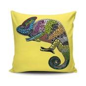 Żółta   poduszka Chameleon