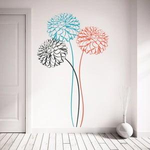 Naklejka Trzy kwiaty, 70x50 cm