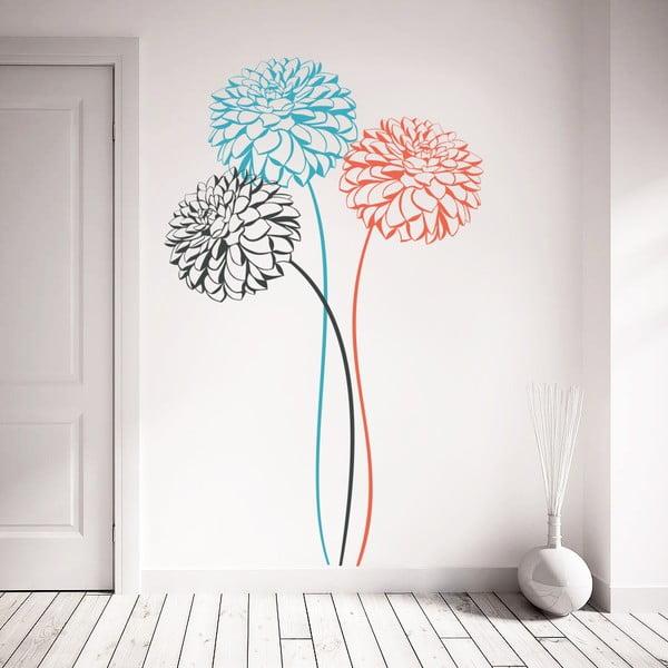 Naklejka ścienna Trzy kwiaty, 70x50 cm