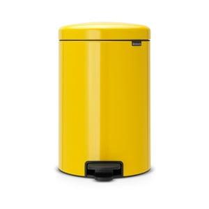 Żółty kosz na śmieci z pedałem Brabantia, 20 l