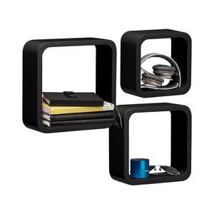 Zestaw 3 półek Cubes, czerne