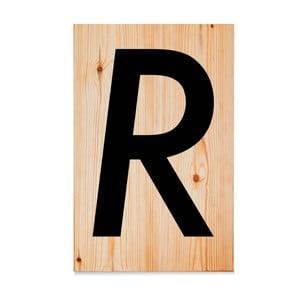 Drewniana tabliczka Letters R