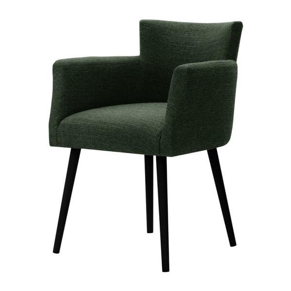 Ciemnozielone krzesło Corinne Cobson Billie
