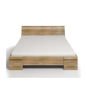 Łóżko 2-osobowe z drewna bukowego ze schowkiem SKANDICA Sparta Maxi, 160x200 cm