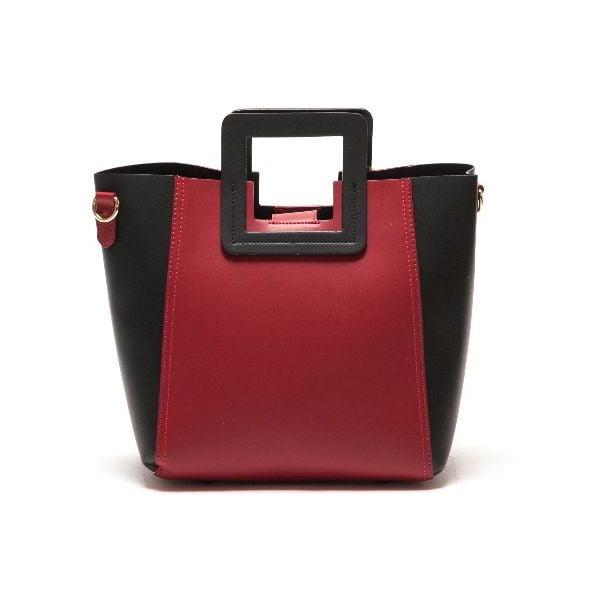 Skórzana torebka Carla Ferreri 3002 Rosso