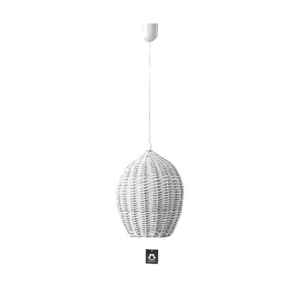 Lampa wisząca Egg, 22 cm, biała