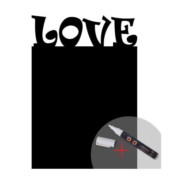 Tablica samoprzylepna z kredowym mazakiem Fanastick Love