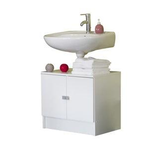 Biała szafka łazienkowa pod umywalkę Symbiosis André