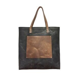 Skórzana torba vintage Lou's maxi, szara