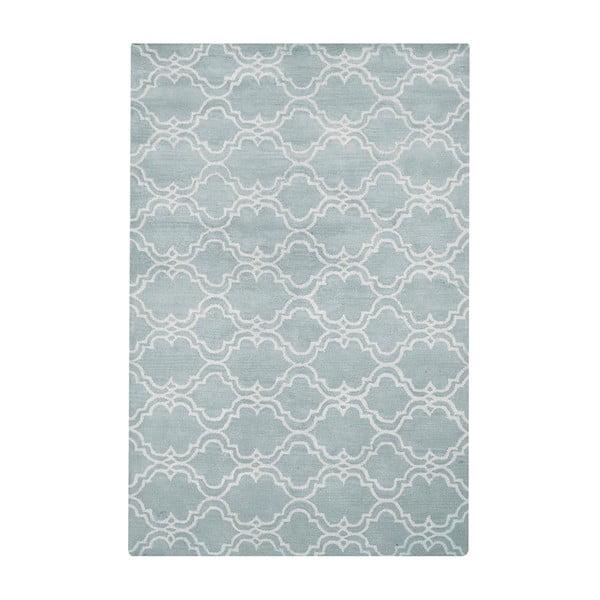 Jasnoniebieski dywan wełniany Bakero Riviera, 153x244cm