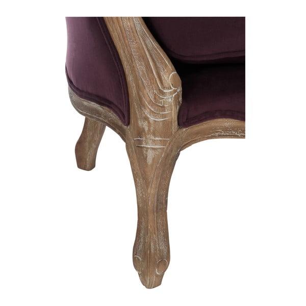 Bordowy dębowy fotel Aubergine