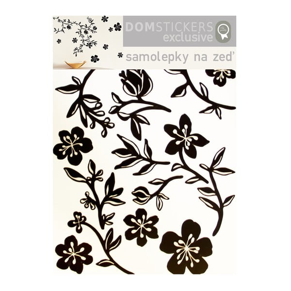 Naklejka Czarne kwiaty
