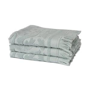 Zestaw 3 zielonych ręczników z organicznej bawełny Seahorse,60x110cm