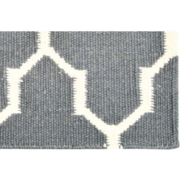 Ręcznie tkany dywan Grey Barok Kilim, 155x243 cm