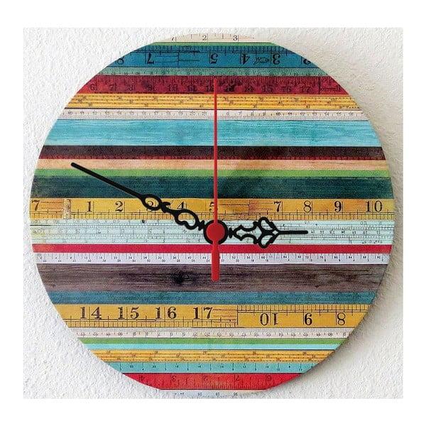 Zegar ścienny Wooden Stripes, 30 cm