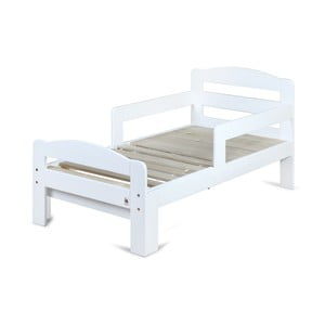 Białe drewniane łóżko rosnące z dzieckiem YappyKids Grow, 140-190x70 cm