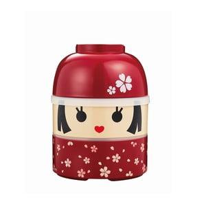Dziecięce pudełko na drugie śniadanie Kokeshi Red, 850 ml