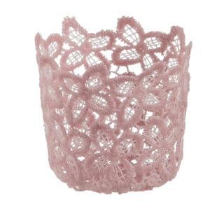 Szklany świecznik Crochet