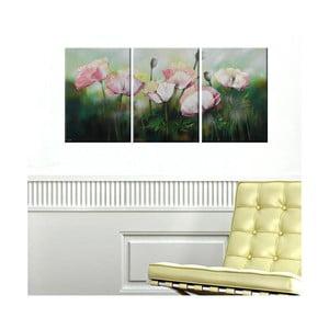 Trzyczęściowy obraz Spring Flowers, 45x90 cm