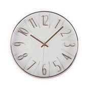 Biały zegar Versa White & Copper, 30 cm