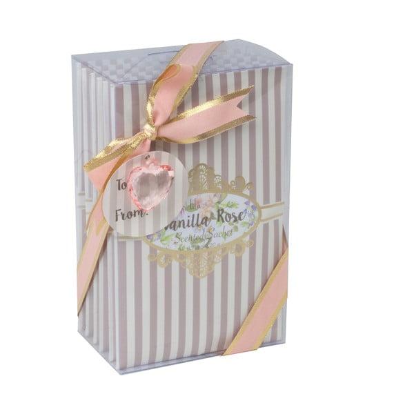 Zestaw 5 torebek zapachowych Charming, róża i wanilia
