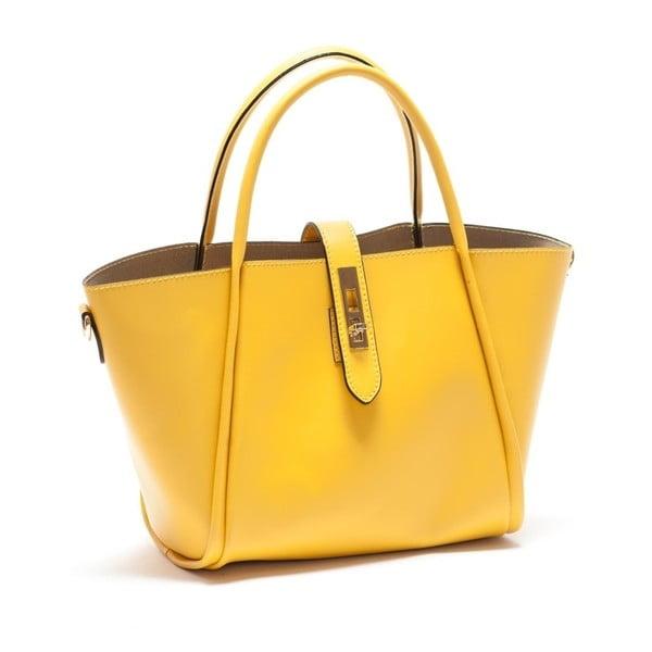 Żółta skórzana torebka Mangotti Walleriana