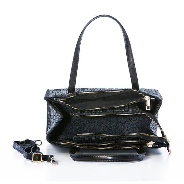 Skórzana torebka Suede Braid Black