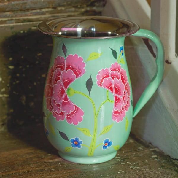 Dzbanek Franjipani Floral Jug, zielony
