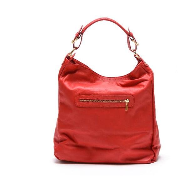 Skórzana torebka  Carla Ferreri 2087 Rosso