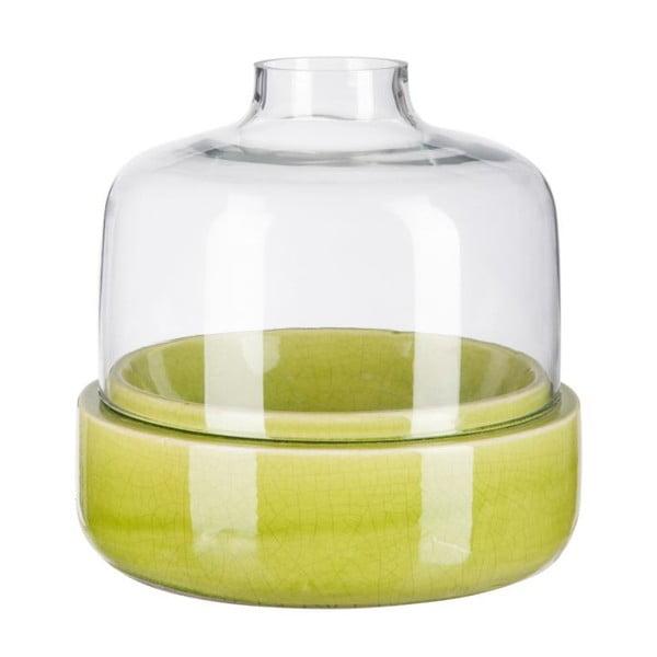 Świecznik Ceramic Green, 23x23x22 cm