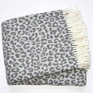 Koc Leopard Dark Grey, 140x180 cm