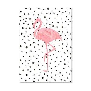Plakat Americanflat Flamingo on Polka, 30x42 cm