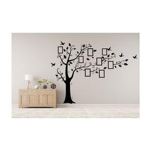 Naklejka dekoracyjna Czarne drzewa z ramkami na zdjęcia, 180x250 cm