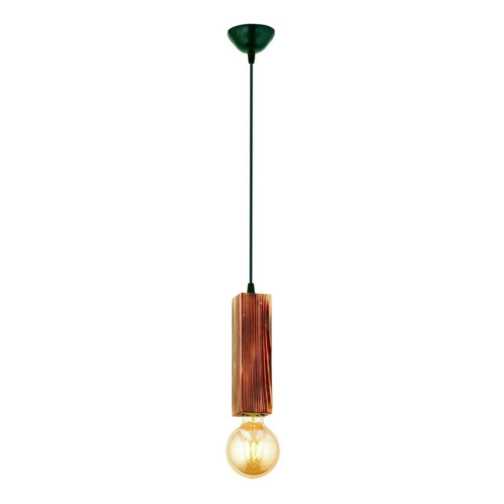 Lampa wisząca z drewna grabu Dikdörtgen