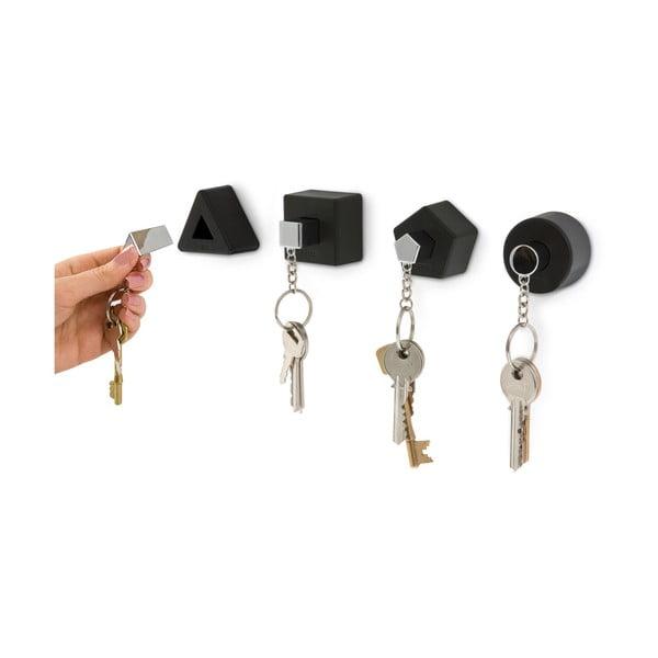 Czarny wieszak na klucze J-Me Shape