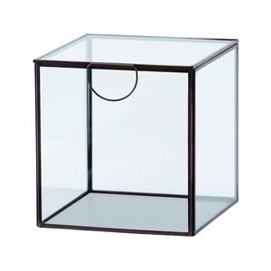 Szklany pojemnik Agape, 19 cm