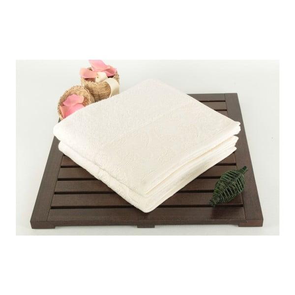 Zestaw 2 ręczników Sall Ecru, 50x90 cm