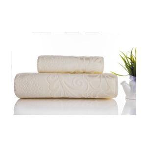 Zestaw 2 ręczników Kumsal Ecru, 50x90 cm i 70x140 cm