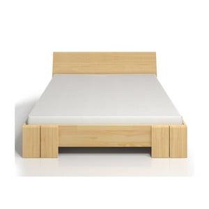 Łóżko 2-osobowe z drewna sosnowego ze schowkiem SKANDICA Vestre Maxi, 160x200 cm
