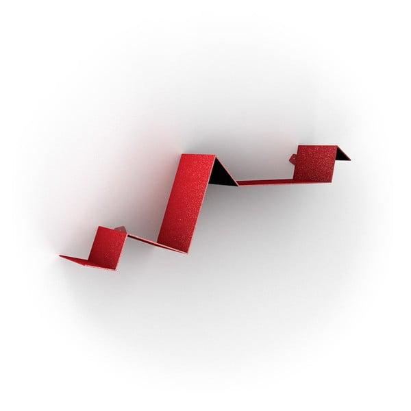Półka Zig Zag, czerwona